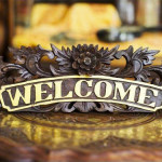 Hand Crafted Welcome Sign