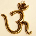 OM Pendant - Large Brass