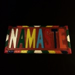 8660 Color Namaste plaque