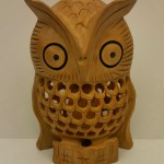 9407 wood U cut owl