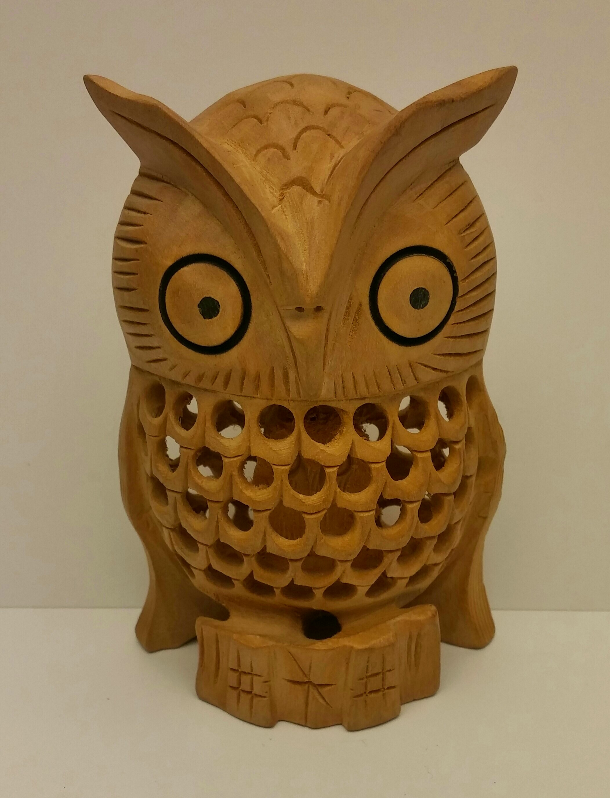 Macrosun international carved wood owl